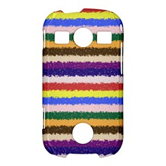 Horizontal Vivid Colors Curly Stripes - 1 Samsung Galaxy S7710 Xcover 2 Hardshell Case