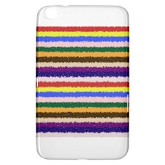 Horizontal Vivid Colors Curly Stripes - 1 Samsung Galaxy Tab 3 (8 ) T3100 Hardshell Case