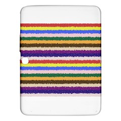 Horizontal Vivid Colors Curly Stripes - 1 Samsung Galaxy Tab 3 (10.1 ) P5200 Hardshell Case