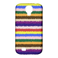 Horizontal Vivid Colors Curly Stripes   1 Samsung Galaxy S4 Classic Hardshell Case (pc+silicone)