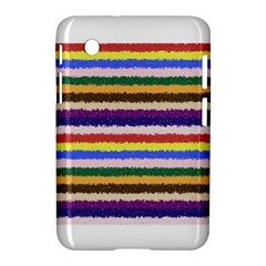 Horizontal Vivid Colors Curly Stripes - 1 Samsung Galaxy Tab 2 (7 ) P3100 Hardshell Case