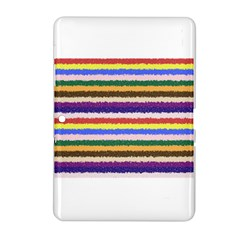 Horizontal Vivid Colors Curly Stripes - 1 Samsung Galaxy Tab 2 (10.1 ) P5100 Hardshell Case