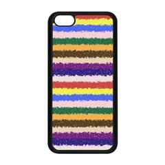 Horizontal Vivid Colors Curly Stripes - 1 Apple iPhone 5C Seamless Case (Black)