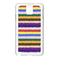 Horizontal Vivid Colors Curly Stripes - 1 Samsung Galaxy Note 3 N9005 Case (White)