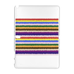 Horizontal Vivid Colors Curly Stripes - 1 Samsung Galaxy Note 10.1 (P600) Hardshell Case