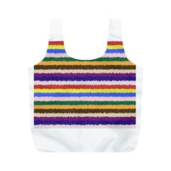 Horizontal Vivid Colors Curly Stripes - 1 Reusable Bag (M)