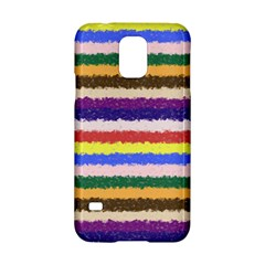 Horizontal Vivid Colors Curly Stripes - 1 Samsung Galaxy S5 Hardshell Case