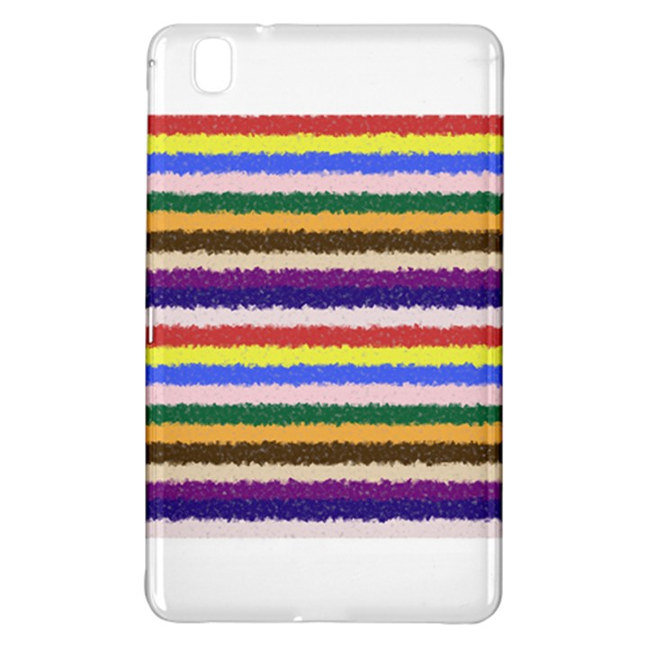 Horizontal Vivid Colors Curly Stripes - 1 Samsung Galaxy Tab Pro 8.4 Hardshell Case