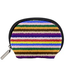 Horizontal Vivid Colors Curly Stripes - 1 Accessory Pouch (Small)