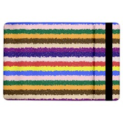 Horizontal Vivid Colors Curly Stripes - 1 Apple iPad Air Flip Case