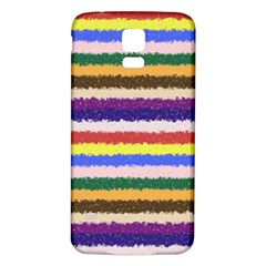 Horizontal Vivid Colors Curly Stripes - 1 Samsung Galaxy S5 Back Case (White)