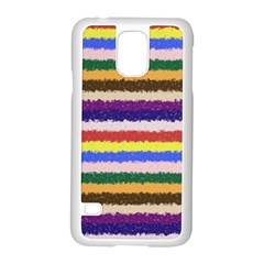 Horizontal Vivid Colors Curly Stripes   1 Samsung Galaxy S5 Case (white)