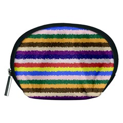 Horizontal Vivid Colors Curly Stripes - 1 Accessory Pouch (Medium)
