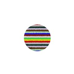 Horizontal Vivid Colors Curly Stripes   2 1  Mini Button