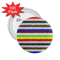 Horizontal Vivid Colors Curly Stripes   2 2 25  Button (100 Pack)