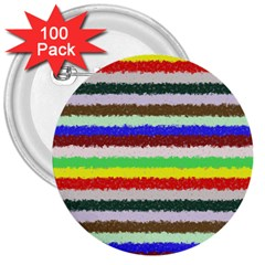 Horizontal Vivid Colors Curly Stripes   2 3  Button (100 Pack)
