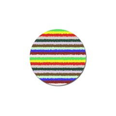 Horizontal Vivid Colors Curly Stripes   2 Golf Ball Marker 4 Pack