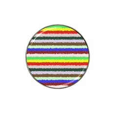 Horizontal Vivid Colors Curly Stripes   2 Golf Ball Marker 4 Pack (for Hat Clip)
