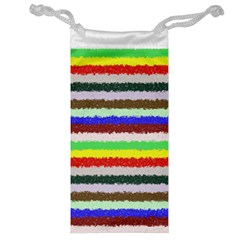 Horizontal Vivid Colors Curly Stripes   2 Jewelry Bag