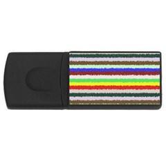 Horizontal Vivid Colors Curly Stripes   2 4gb Usb Flash Drive (rectangle)