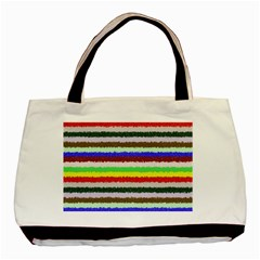 Horizontal Vivid Colors Curly Stripes - 2 Classic Tote Bag