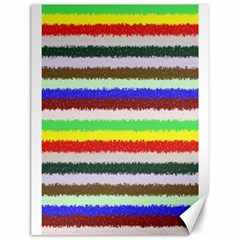 Horizontal Vivid Colors Curly Stripes   2 Canvas 12  X 16  (unframed)