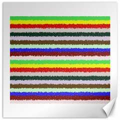 Horizontal Vivid Colors Curly Stripes   2 Canvas 16  X 16  (unframed)