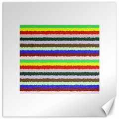 Horizontal Vivid Colors Curly Stripes - 2 Canvas 20  x 20  (Unframed)