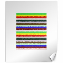 Horizontal Vivid Colors Curly Stripes   2 Canvas 20  X 24  (unframed)