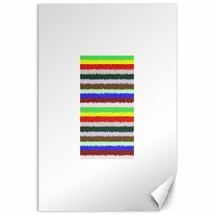 Horizontal Vivid Colors Curly Stripes - 2 Canvas 24  x 36  (Unframed)