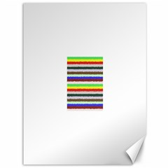 Horizontal Vivid Colors Curly Stripes - 2 Canvas 36  x 48  (Unframed)