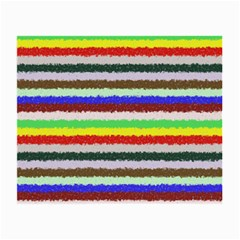 Horizontal Vivid Colors Curly Stripes - 2 Glasses Cloth (Small, Two Sided)