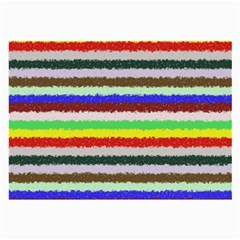 Horizontal Vivid Colors Curly Stripes - 2 Glasses Cloth (Large, Two Sided)