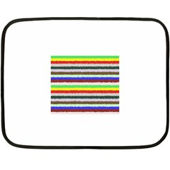 Horizontal Vivid Colors Curly Stripes - 2 Mini Fleece Blanket (Two Sided)