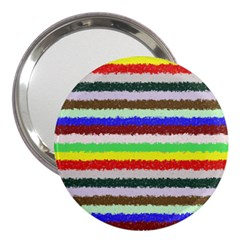 Horizontal Vivid Colors Curly Stripes   2 3  Handbag Mirror