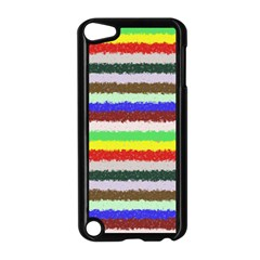 Horizontal Vivid Colors Curly Stripes - 2 Apple iPod Touch 5 Case (Black)