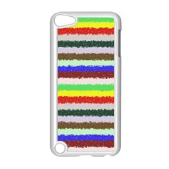 Horizontal Vivid Colors Curly Stripes   2 Apple Ipod Touch 5 Case (white)