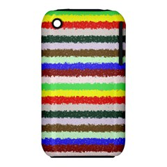 Horizontal Vivid Colors Curly Stripes   2 Apple Iphone 3g/3gs Hardshell Case (pc+silicone)