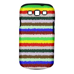 Horizontal Vivid Colors Curly Stripes - 2 Samsung Galaxy S III Classic Hardshell Case (PC+Silicone)