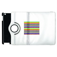 Horizontal Vivid Colors Curly Stripes   2 Apple Ipad 2 Flip 360 Case