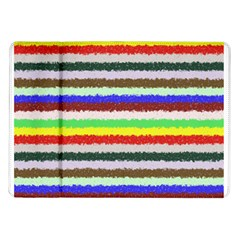 Horizontal Vivid Colors Curly Stripes   2 Samsung Galaxy Tab 10 1  P7500 Flip Case