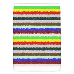 Horizontal Vivid Colors Curly Stripes - 2 Removable Flap Cover (Small)