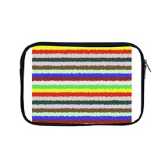 Horizontal Vivid Colors Curly Stripes   2 Apple Ipad Mini Zippered Sleeve