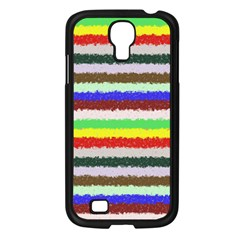 Horizontal Vivid Colors Curly Stripes   2 Samsung Galaxy S4 I9500/ I9505 Case (black)