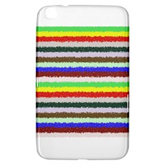 Horizontal Vivid Colors Curly Stripes - 2 Samsung Galaxy Tab 3 (8 ) T3100 Hardshell Case