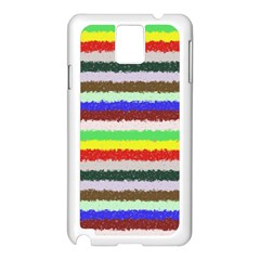 Horizontal Vivid Colors Curly Stripes - 2 Samsung Galaxy Note 3 N9005 Case (White)