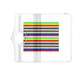 Horizontal Vivid Colors Curly Stripes   2 Kindle Fire Hdx 8 9  Flip 360 Case