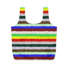 Horizontal Vivid Colors Curly Stripes - 2 Reusable Bag (M)