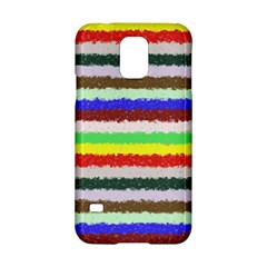 Horizontal Vivid Colors Curly Stripes - 2 Samsung Galaxy S5 Hardshell Case