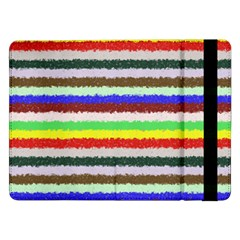 Horizontal Vivid Colors Curly Stripes - 2 Samsung Galaxy Tab Pro 12.2  Flip Case